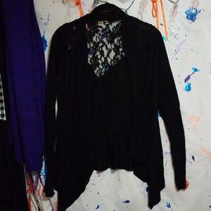 Black flowy cardigan